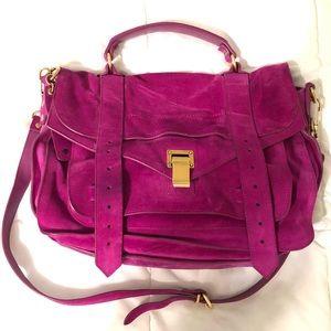Proenza Schouler PS1 Magenta Suede Medium Bag